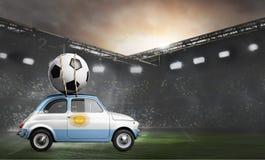 Argentina bil på fotbollsarena royaltyfri bild