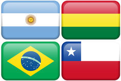 Argentina, Bolivia, Brazil, Chile Royalty Free Stock Image