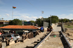 Argentina-Bolivian border. In connection with faults in a computer system at the border crossing La Kyaka - Villazon (Argentina-Bolivia) was a large crowding stock photography