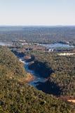 argentina brazil gör den fallsfoz iguassuen Arkivbilder