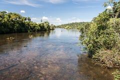 argentina brazil iguassuflod Royaltyfri Bild