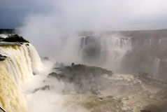 argentina brazil iguazuvattenfall Arkivbild