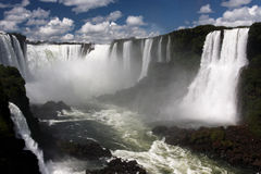 argentina Brazil robi Foz iguassu watterfalls Obrazy Stock