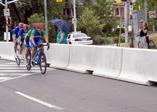 Argentina and Brazil in Tandem Bike Race - ParaPan Am Games - Toronto August 8, 2015 Royalty Free Stock Photo