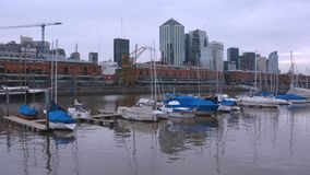 Argentina, Buenos Aires Cityscape Puerto Madero Time Lapse Stock Images