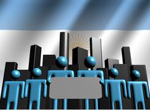 Argentina business team with skyline Stock Photo