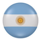 Argentina button Stock Image