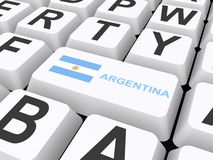 Argentina button on keyboard Royalty Free Stock Photo