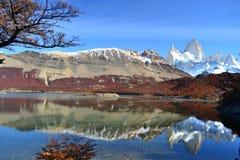 Argentina - Cerro Fitz Roy. In autumn Stock Images