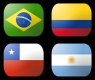 argentina chile Brazylijskie flagę Fotografia Stock