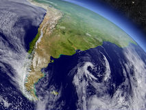 Argentina and Chile from space Royalty Free Stock Photo