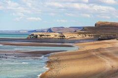 Argentina coast. Patagonian Coast in Argentina Royalty Free Stock Photos