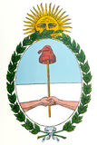 Argentina Coat of Arms. Is one of the national symbols Royalty Free Stock Photos