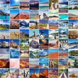 Argentina collage. Argentina travel collage Stock Images