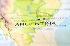 Argentina country on a map Stock Photo