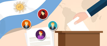 Argentina democracy political process selecting president or parliament member with election and referendum freedom to Royalty Free Stock Image