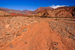 Argentina Desert Red Rock Landscape Royalty Free Stock Images