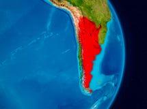 Argentina do espaço Imagem de Stock Royalty Free