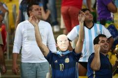 Argentina e ALEMANHA futebol de 2014 campeonatos do mundo Fotografia de Stock