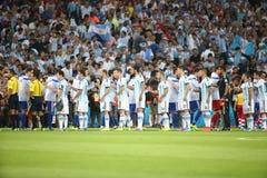Argentina e ALEMANHA futebol de 2014 campeonatos do mundo Foto de Stock Royalty Free