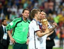 Argentina e ALEMANHA futebol de 2014 campeonatos do mundo Imagem de Stock Royalty Free