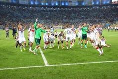 Argentina e ALEMANHA futebol de 2014 campeonatos do mundo Fotografia de Stock Royalty Free