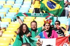 Argentina e ALEMANHA futebol de 2014 campeonatos do mundo Imagem de Stock