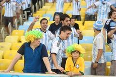 Argentina e Bósnia futebol de 2014 campeonatos do mundo Foto de Stock Royalty Free