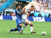 Argentina e Bósnia futebol de 2014 campeonatos do mundo Imagem de Stock