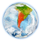 Argentina on Earth isolated Stock Photography