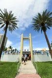 Argentina fans celebrating on Miami Beach Stock Photography