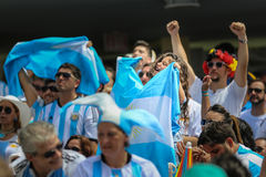 Argentina fans on Miami Beach Stock Image