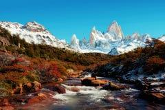 Argentina Fitz Roy Imagens de Stock