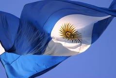 argentina flagę Obrazy Royalty Free
