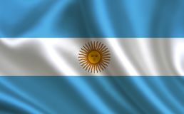 argentina flagę Część serie Obrazy Stock