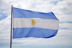 argentina flagę Obraz Royalty Free