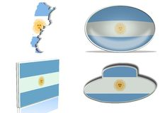 Argentina flag Royalty Free Stock Image