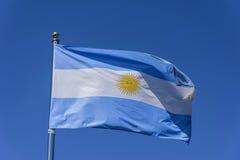 argentina flagę Zdjęcie Royalty Free