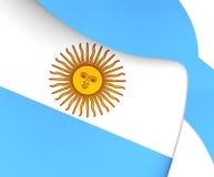 argentina flagę Zdjęcia Royalty Free