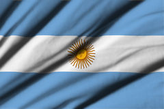 argentina flagę Obrazy Stock