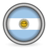 Argentina flag button Royalty Free Stock Photos