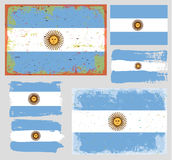 Argentina flag collection vector Royalty Free Stock Images