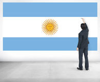 Argentina Flag Country Nationality Liberty Concept Royalty Free Stock Photography