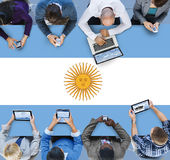 Argentina Flag Country Nationality Liberty Concept Royalty Free Stock Photos