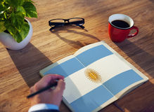 Argentina Flag Country Nationality Liberty Concept Stock Photography