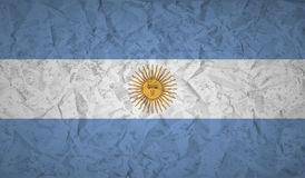 Argentina flag with the effect of crumpled paper and grunge Stock Photo