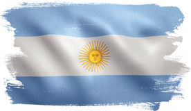 Argentina Flag. With fabric texture. 3D illustration Royalty Free Stock Photography