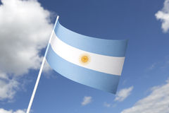 Argentina flag Stock Photography