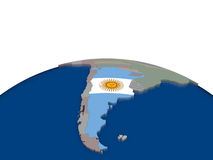 Argentina with flag Stock Images
