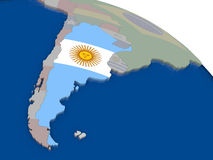 Argentina with flag Stock Photography